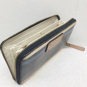 Kate Spade Zip Around Clutch Wallet Stripes Vntage